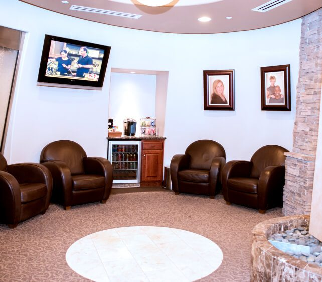 Cozey dental office waiting room